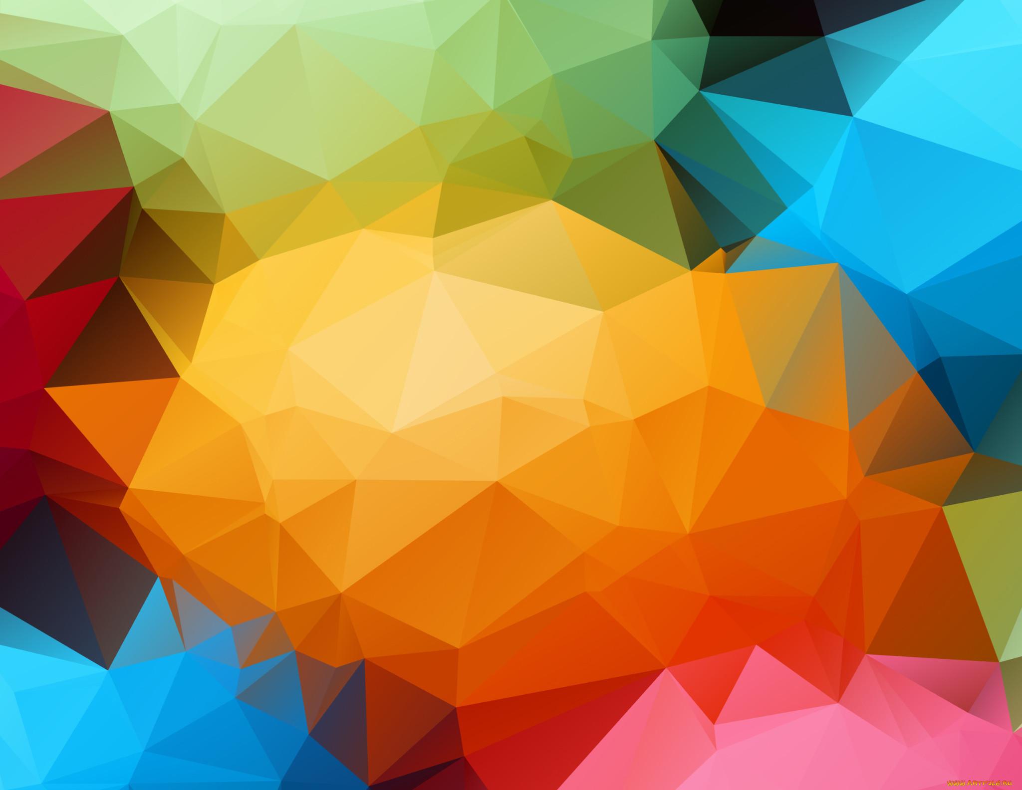 Обои Цвет, абстракция, треугольник. Абстракции foto 16